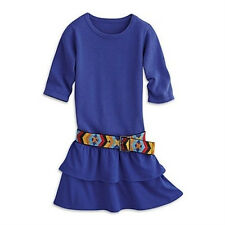 American Girl Saige's Dress & Belt for Girls Size 12 Saige Meet Outfit NEW