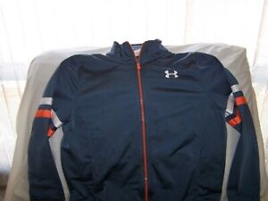 Boys Under Armour Gray Full Zip Jacket with Pocket's Large