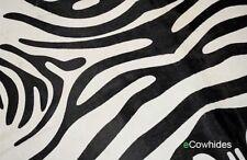 CowHide Rug Zebra Cow Genuine Skin Leather Cowhide Area Rug Hair on Hide