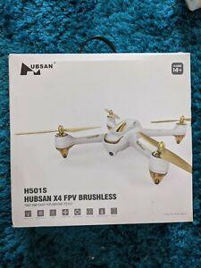 Hubsan X4 FPV 1080P Camera Brushless Drone - White (H501S)