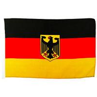 Flagge Deutschland mit Adler Größe 30x45 cm Deutsche National Fahne o. Stock BRD