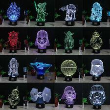 Star Wars Death Star  Yoda 3D LED Acrílico Luz de noche Lámpara nocturna Regalos