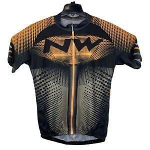 Mens Cycling Short Sleeve Jersey Zip Up 5XL Northwave EUC