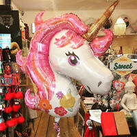 Unicorn Helium Foil Balloon Giant Birthday Party Magical Decoration Girl Rainbow