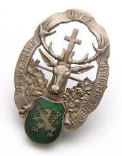 Jagd,Hut Abzeichen,Jäger Klub Graz Hubertus Brüder,Hirsch,hunter cap badge,deer