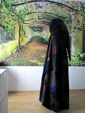 warmer Flickenumhang Kapuze CAPE Mittelalter Fleece unisex Mantel Bettler Umhang