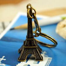 Paris Retro Eiffel Tower Model Cute Keychain Keyfob Eiffel Tower Figurines TB