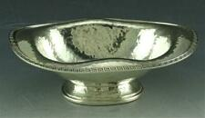 ARTS & CRAFTS DOMINICK & HAFF HAND HAMMERED STERLING SILVER GREEK KEY SOAP DISH