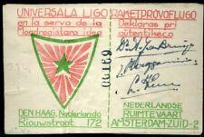 420369) Niederlande Esperanto-Drucksache Raketenpost 1948, 3 Unterschriften