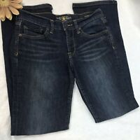 Lucky Brand Womens Size 2/26 Jeans Dark Wash Sweet N low Boot Cut Distressed