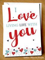 Cute Valentines Day Card Love Partner Couple Birthday Anniversary Christmas Life