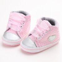 Toddler Girls Crib Shoes Newborn Baby Soft Sole Anti-slip Pram trainers polkadot