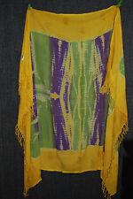 KAVI fließender Pareo | Batik in sonnigen Farben | Glitzerpaisleys | ONE SIZE