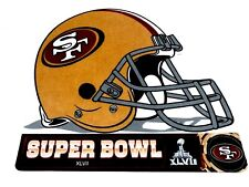 "Helmet Shaped SF San Francisco 49ers Super Bowl XLV11 02/03/13 Pennant 14"""