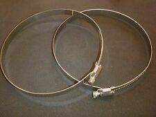 """New listing 2 Pc Stainless Steel 19 1/2"""" Hose Duct Clamp Range 14""""-19 1/2"""" # Hdc500"""