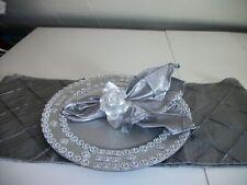 19Pc Allover Silver Table Accessories