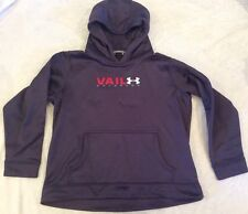 Under Armour Hoodie Sweatshirt Pullover Youth Large Loose Grey Vail Play