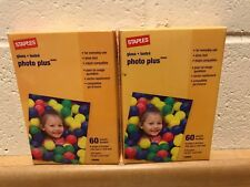 Photo Paper 4x6 Lot of 2, Staples 19898, Inkjet Gloss