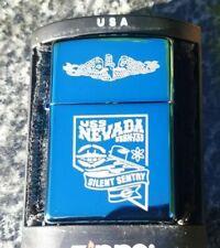 ZIPPO, USS NEVADA SSBN-733, BALLISTIC MISSILE SUBMARINE, LIGHTER ((VERY RARE))