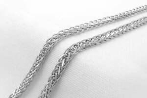 Chaîne en Argent Massif 925, 50,5 cm, 505 mm / Sterling Silver Chain, 19,88 inch