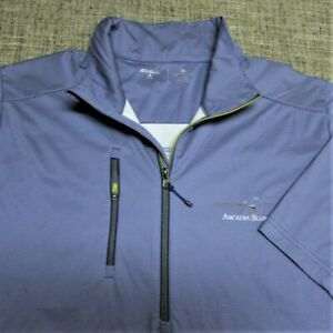 ANTIGUA POLY 1/4 ZIP SHORT SLEEVE GOLF PULLOVER--XL--ARCADIA BLUFFS--EXCEPTIONAL