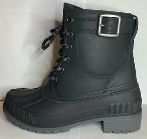 BRAND NEW Heritage 1898 Evelyn Kamik Black Winter Boots US 6 (Euro 37)