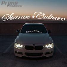"""Stance Culture Car Windshield Window Vinyl Decal Banner Sticker 6"""" x 30"""""""