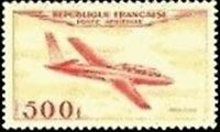 "FRANCE TIMBRE STAMP POSTE AERIENNE 32 "" AVION FOUGA MAGISTER 500F "" NEUF XX TTB"