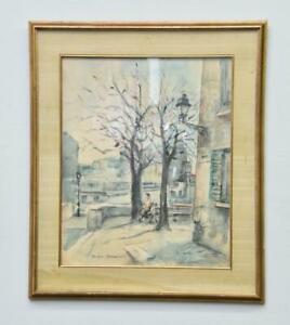 Original Parisian Watercolor Painting Georges Rouault (French, 1871-1958) LISTED