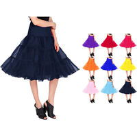 US Women's Vintage Petticoat Skirt Tutu 1950s Underskirt for Short Dress Length
