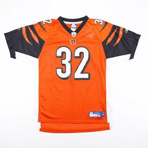 Vintage REEBOK NFL Cincinatti Bengals Orange Sports Short Sleeve Jersey Boys XL