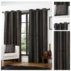 Africa Coco Animal Print Chocolate Brown Eyelet / Ring Top 46 x 54 Curtains.NEW!