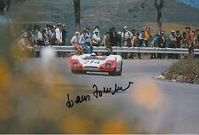 Hans Herrmann Hand Signed 12x8 Photo Porsche 908 Targa Florio 1969.