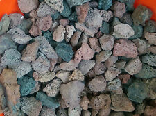"""New listing 10 lbs of Red and Black Lava Rock Bbq Substrate Fountain Aquarium 3"""" to 4"""""""