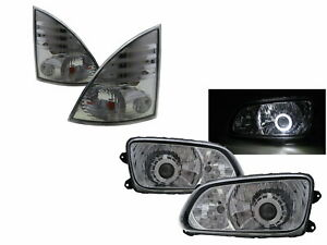 700 08-ON 2D Guide LED Angel-Eye Projector Headlight W/ Motor CH V3 for HINO LHD
