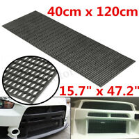40x120cm Universal Honeycomb Black ABS Plastic Vent Car Tuning Grille Grill Mesh