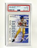 Gem Mint 10: Tom Brady ROOKIE Card, 2000 Fleer Skybox Impact RC #27