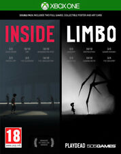 Inside + Limbo Double Pack With Poster & Art Card Xbox One * NEW SEALED PAL *