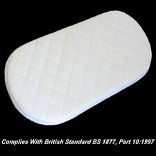 QUILTED BREATHABLE PRAM MATTRESS FITS BABYSTYLE OYSTER CARRYCOT PRAM (73x35x3cm)