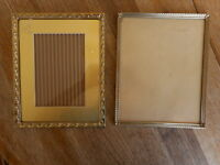 Lot of 2 VINTAGE Frames  pictures Photo 8x10 size Retro Mod MCM Mid Century