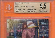 BVG 9.5 GEM MINT BRYCE HARPER GOLD UPDATE 2016 TOPPS US297 ALL-STAR BECKETT *ABC