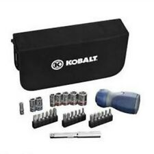 NEW Kobalt Ratchet Driver Mechanics Tool Set 28-pc [Free Ship] + Free bit set