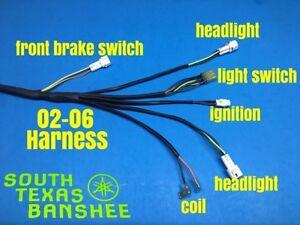 Yamaha Banshee Wiring Harness (NEW) NO TORS-NO PARK BRAKE 3GG-10 CDI  2002-2006