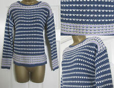 NEW EX M&S Ladies Knitted Jumper Winter Blueberry Stripe Marks & Spencer Top £37