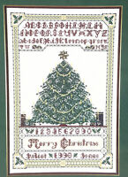 CHRISTMAS TREE SAMPLER Counted Cross Stitch CHART ONLY CAT'S CRADLE NEEDLEWORKS