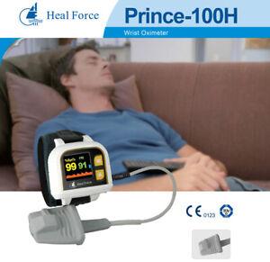 Heal Force Prince 100H OLED Finger Pulse Oximeter Wrist Watch SpO2 PR PI Monitor