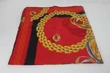 AUTH VINTAGE MUST DE  CARTIER SILK SCARF/SHAWL  MADE IN  FRANCE