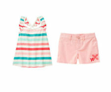 NWT Gymboree ICE CREAM PARLOR SZ 10 Striped Top & Pink Shorts NEW!!