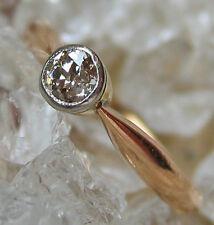 NICE ☺☻ 0,20 ct brillant anneau en or 585 avec diamant ARTDECO altschliff Diamond