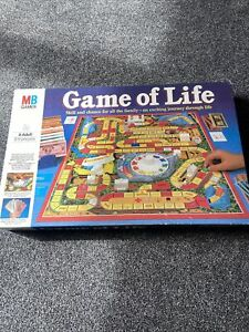 The Game Of Life Board Game MB Games 1984 Family Fun Vintage *See Description*